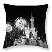 Cinderella Castle Throw Pillow