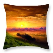D L Landscape Throw Pillow
