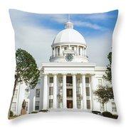 Facade Of A Government Building Throw Pillow