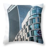 20 Fenchurch Street A Commercial Skyscraper In London Throw Pillow