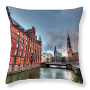 Hamburg Germany Throw Pillow