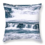 Kootenai River Water Falls In Montana Mountains Throw Pillow