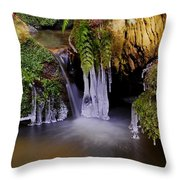 Old Man's Cave Throw Pillow