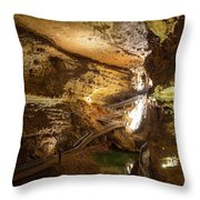 Onondaga Cave Formations Throw Pillow