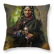 20 Pakistan Folk Gilgit Throw Pillow