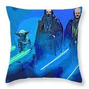 Star Wars Saga Art Throw Pillow