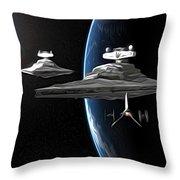 Star Wars The Trilogy Art Throw Pillow