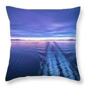 Sunset Over Alaska Fjords On A Cruise Trip Near Ketchikan Throw Pillow