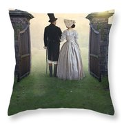 Victorian Couple  Throw Pillow