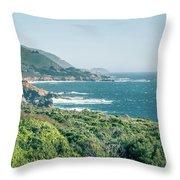 Western Usa Pacific Coast In California Throw Pillow