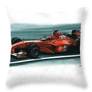 2000 Ferrari F1-2000 Throw Pillow