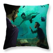 20000 Leagues Under The Sea Throw Pillow