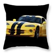 2001 Dodge Viper 'methenol Injected'  Throw Pillow