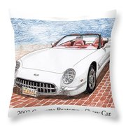 2003 Corvette Prototype Throw Pillow