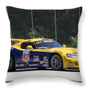 2003 Dodge Viper Gts-r At Road America Throw Pillow