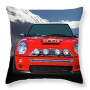 2004 S Mini Cooper Throw Pillow