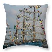 2004 Tall Ships Throw Pillow