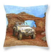 2005 Jeep Rubicon 4 Wheeler Throw Pillow