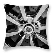 2005 Lotus Elise Wheel Emblem -0079bw Throw Pillow