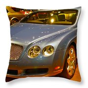 2006 Chicago 2006 Bentley Continental Gtauto Show Throw Pillow