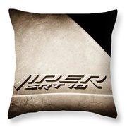 2006 Dodge Viper Srt 10 Emblem -0062s Throw Pillow