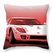 2006 Ford Production Gt Ia Throw Pillow