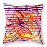 2007 Abstract Drawing 2 Throw Pillow