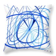 2007 Abstract Drawing 3 Throw Pillow