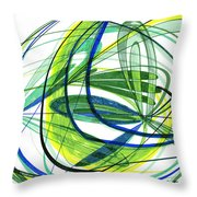 2007 Abstract Drawing 4 Throw Pillow