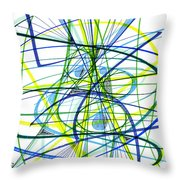2007 Abstract Drawing 5 Throw Pillow