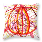 2007 Abstract Drawing 6 Throw Pillow