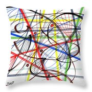 2007 Abstract Drawing 7 Throw Pillow