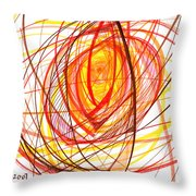 2007 Abstract Drawing 8 Throw Pillow
