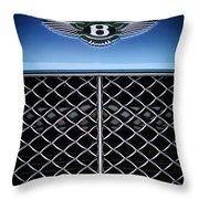 2007 Bentley Continental Gtc Convertible Hood Ornament Throw Pillow