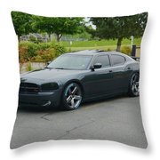 2007 Dodge Charger Rt Lee Throw Pillow