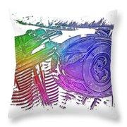 2007 Harley C 01 Cool Rainbow 3 Dimensional Throw Pillow