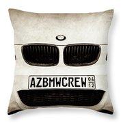 2008 Bmw Grille Emblem -1136s Throw Pillow