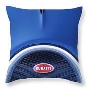 2008 Bugatti Veyron Hood Ornament Throw Pillow
