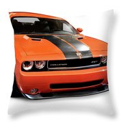 2008 Dodge Challenger Srt Muscle Car Throw Pillow