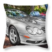 2008 Mercedes Benz Sl500 V8 Coupe Painted   Throw Pillow