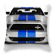 2008 Shelby Ford Gt500kr Throw Pillow