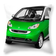 2008 Smart Fortwo City Car Throw Pillow