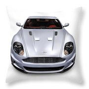 2009 Aston Martin Dbs Throw Pillow