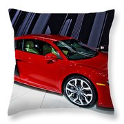 2009 Audi R8 Number 1 Throw Pillow