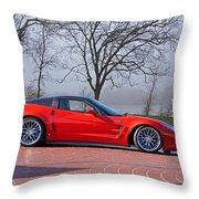 2009 Chevrolet Corvette Zr 1 Throw Pillow