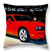 2009 Dodge Challenger Number 2 Throw Pillow