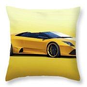2009 Lamborghini Murcielago Roadster II Throw Pillow