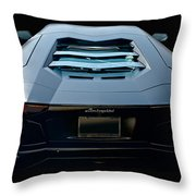 2009 Lamborghini Aventador 'stealth II'  Throw Pillow