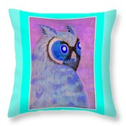 2009 Owl Negative Throw Pillow by Lilibeth Andre