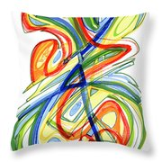 2010 Abstract Drawing Eight Throw Pillow